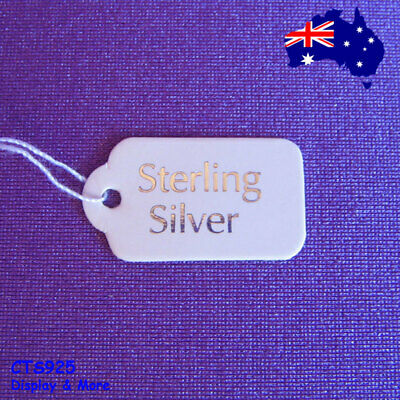 500 Paper String Swing Jewellery Price Label Tag-Sterling Silver | AUSSIE Seller