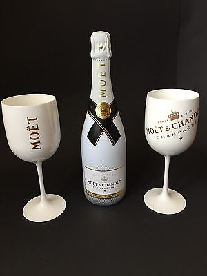 Moet Chandon Ice Imperial Champagner 0,75l 12% Vol + 2 Ice Imperial Acryl Gläser