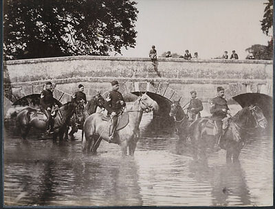 OLD VINTAGE WWI PHOTO of BRITISH CAVALRY ARMY 1st KING'S