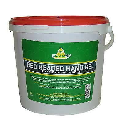 Trilanco Red Beaded Hand Gel Equine Horse Rider Care