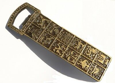 Vintage Brass Beer Bottle Opener 12 Bible Tribes of Israel Hebrew Name Holy Land