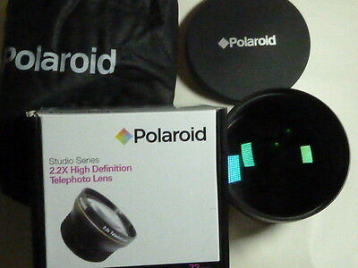 Polaroid Studio Series 2.2x HD telephoto Lens 72mm size for camera and camcorder