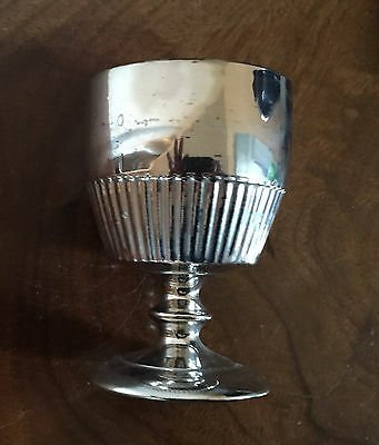 Antique 19th c. English Silver Luster Pearlware Rummer Goblet Staffordshire Vase