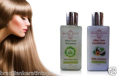 Brazilian Keratin Hair Treatment Post Shampoo / Conditioner Salt Free