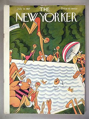 New Yorker Magazine - July 9, 1927 ~~ Julian de Miskey cover ~~ nice condition