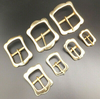 "1/2"" to 1-3/4"" SOLID CAST BRASS RE ENACTMENT CROWN BUCKLE in packs of 1,2,5, 10"
