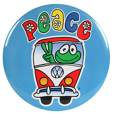 "New Peace Frogs 1.25"" Pv Van Button"