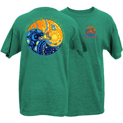 New Peace Frogs Sun Moon Ying Yang Adult Large Short Sleeve