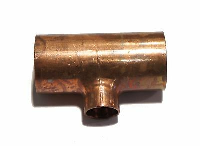 "Copper Pipe Fitting Reducing Tee T 7/8"" x 1/2"""