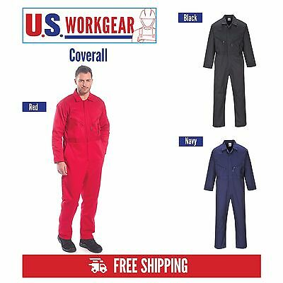 Zip Coveralls Overall Protective Work Mechanic Boilersuit M-5XL, Portwest UC813
