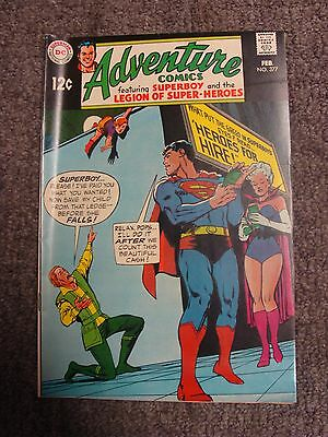 "Adventure Comics #377 (1969) ""Heroes for Hire!"" * DC Comics *"