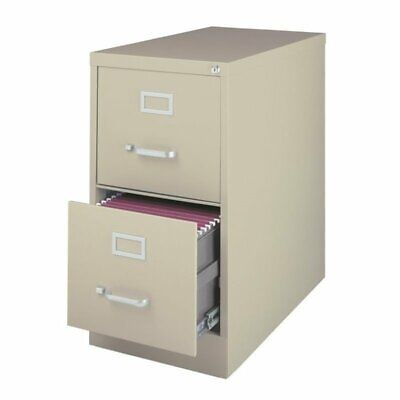 Filing Cabinet File Storage Hirsh Industries 2 Drawer Letter in Putty