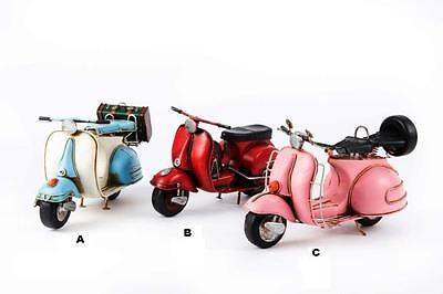 Moto decoracion metal Vespa, 33 x 11 x 15