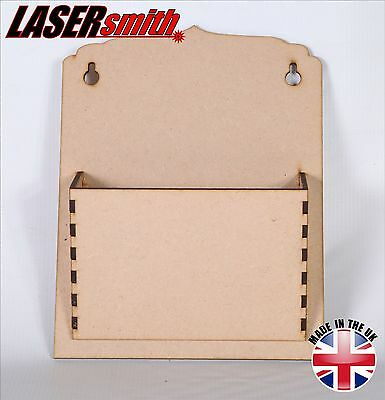 Post / Mail / Letter Rack Holder made with 3mm MDF for craft, decoupage etc