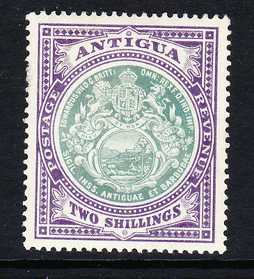 Antigua 1908-17 2/- Grey-Green & Violet Sg 50 Mint.