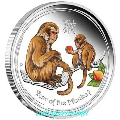 Australia Lunar Series II 2016 Year Of The Monkey 1oz Silver Proof Colored Coin