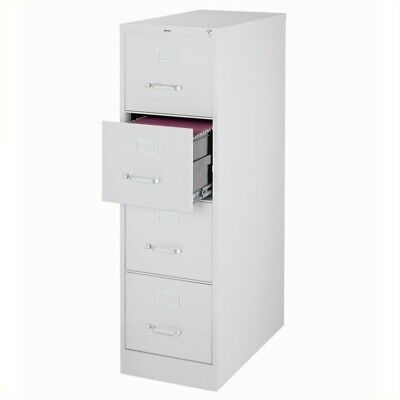 Filing Cabinet File Storage Hirsh Industries 4 Drawer Letter in Gray