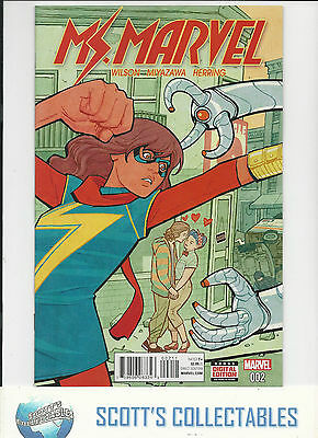 Ms Marvel    #2    Nm New (Bagged & Boarded)  Freepost
