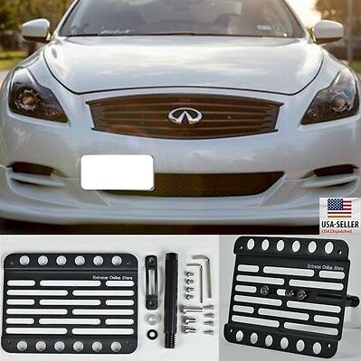 Multi Angle Tow Hook Mount License Plate Bracket For Infiniti G37 Coupe 10-13