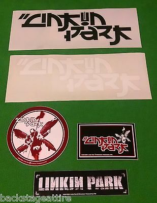 Linkin Park 5 Piece Vintage Metal Vinyl Sticker Set Bumper Decal-New!!