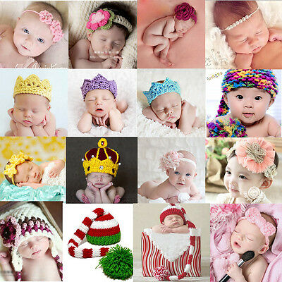 Newborn Baby Crochet Knit Braids Hat Infant Crown Photography Photo Prop Costume