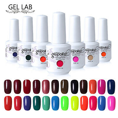 GEL LAB 15ml Soak Off Nail Gel Polish UV LED Varnish Top Base Primer Manicure