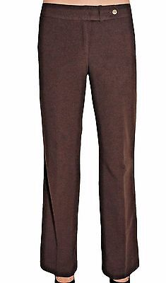 Calvin Klein Women's Classic Fit Lined Dress Pant Trousers  Brown  Sz 10
