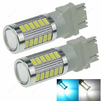 Pair 3157 T25 33 5730 SMD LED Projector Bulbs For Daytime Running Light Hot F016