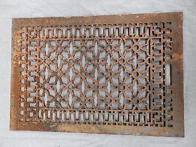 Large Antique Gothic Cast Iron Cold Air Return Vent Vintage Old Hardware 5294-15