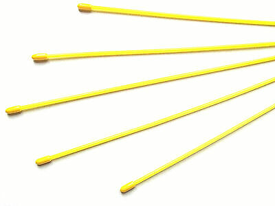 Plastic  Receiver Antenna Tubes / Pipes, 300Mm, Yellow   -  5 Pieces