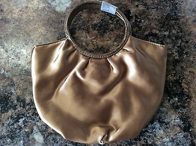 Formal/Wedding/Evening Bag Gold Satin Small Clutch Purse~NWOT