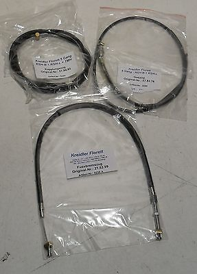 Set Cables For Kreidler Florett RS-B / RS-L 5 AISLE 6,25 PS Bowden Germany