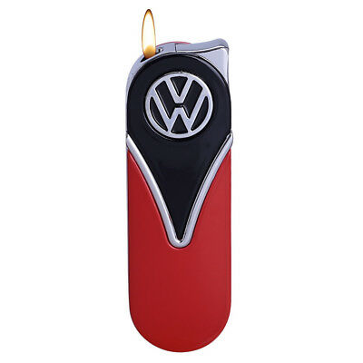 Official VW Camper Van Metal Slimline Gas Lighter in gift box - Black + Red