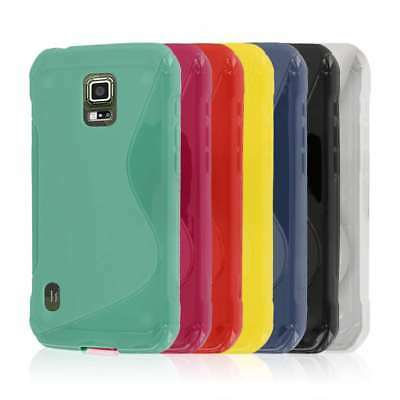 for Samsung Galaxy S5 Active S-Shape Flexible TPU Soft Skin Case Cover Protector