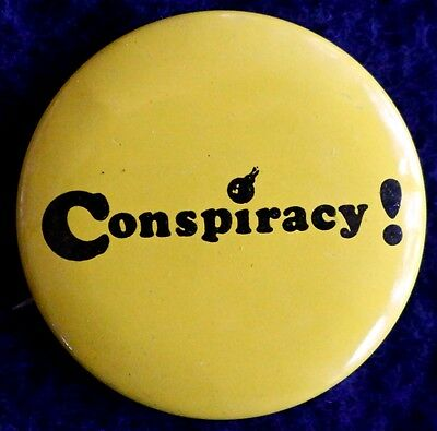 Conspiracy Trial 1969 - Chicago Anti War Demonstrations - Original Pinback Rare