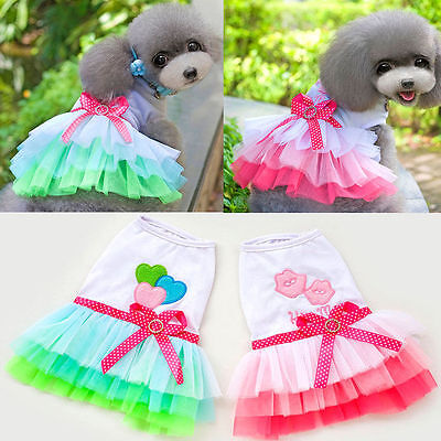 NEW Dog Cat Pet Summer Various Puppy Small Lace Dress Apparel Clothes Elegant