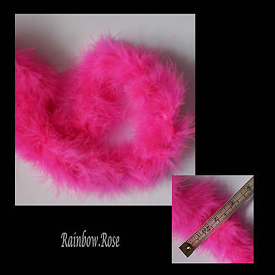 Marabou Feather Boa 10 metres BRIGHT PINK Sewing Arts Crafts Hat Costume