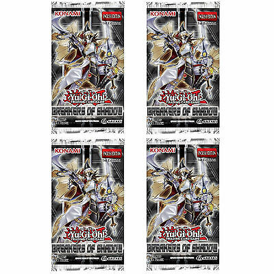 Yu-Gi-Oh: Breakers Of Shadow 4 Sealed Booster Packs (Bosh) New Cards For 2016