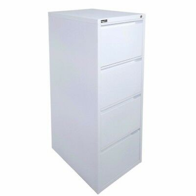Rapidline 4 Drawer Filing Cabinet Assembled White RFCA4 - Melbourne