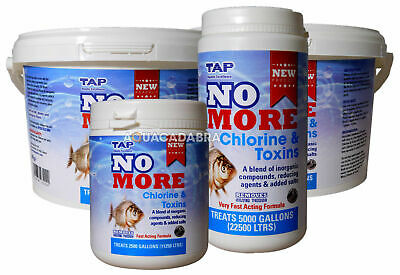 Tap No More Chlorine & Toxins Remover Tap Water Safe Koi Pond Fish Dechlorinator