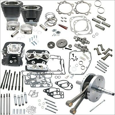 """S&S Cycle 124"""" Hot Set-Up Kit w/ Big Bore Cylinders Cams Pistons Harley 07-16"""