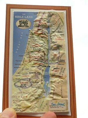 3D HOLY LAND BIBLE MAP MAGNET Biblical 12 Tribes of Israel Old New Testament