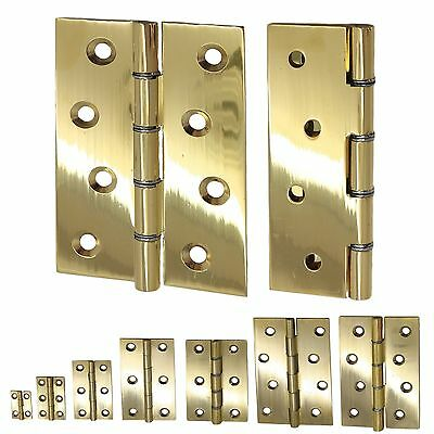2x Heavy Duty SOLID BRASS DOOR BUTT HINGES 25/38/50/63/75/100mm Small-Large UK
