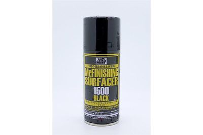 GUNZE Mr Hobby B-526 Mr Finishing Surfacer 1500 Black 170ml