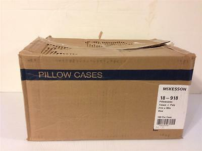 Mckesson 18-918 Lot 100 Pillowcases Blue Tissue + Poly 21 In X 30 In 100/case
