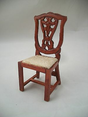 Victorian Side Chair   Dollhouse Miniature Wooden Furniture T3275 1/12 Scale
