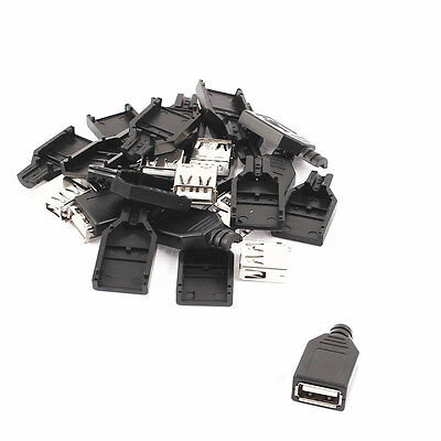 50PCS USB2.0 Type-A Plug 4-pin female Adapter Connector jack