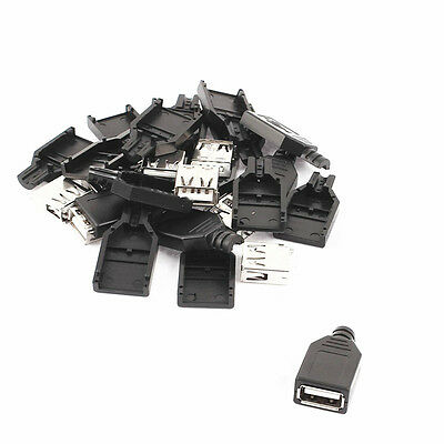 20PCS USB2.0 Type-A Plug 4-pin female Adapter Connector jack
