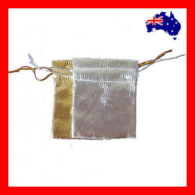 BEST Selling 200 Jewellery Gift Pouch Bag-5x7cm-Gold or Silver | AUSSIE Seller