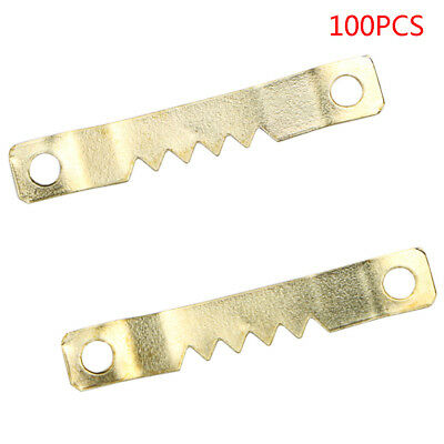 New 41 x 7mm Saw Tooth Hangers Oil Painting Picture Frame Hooks Hanging 100PCS